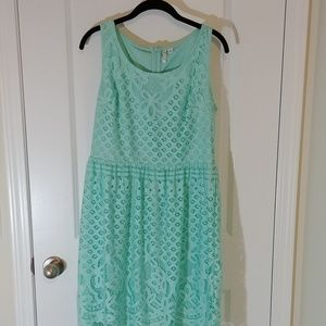 Seafoam green lace Elle dress
